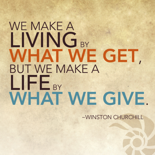 Give, Give and Give
