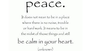 Beautiful Quote about Peace